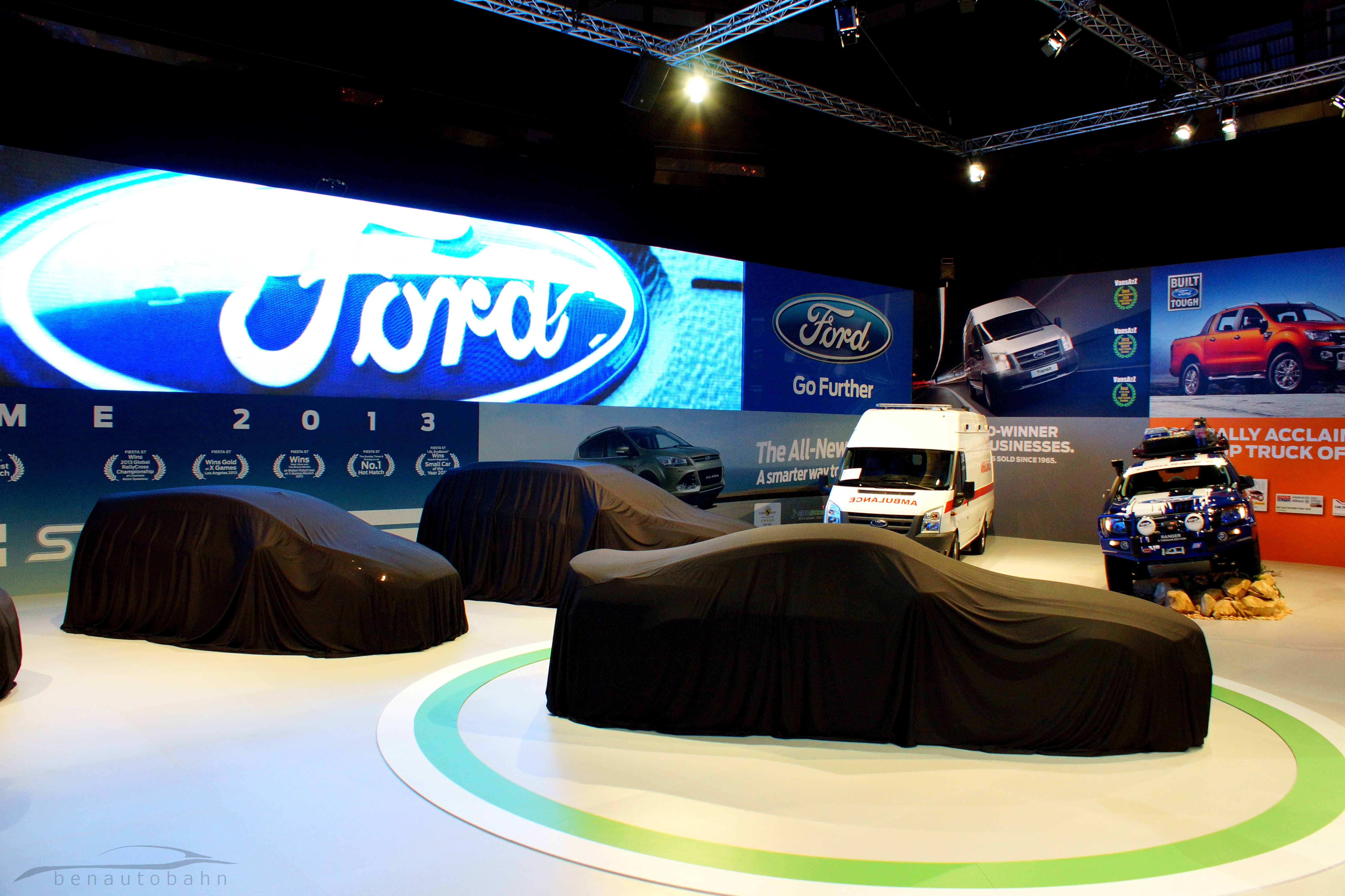 Ford's booth before the official reveal