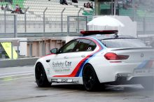 BMW M6 Gran Coupé with louder Akrapovič exhaust system. The name 'Safety Car' sounds boring but the cars they use are far from it