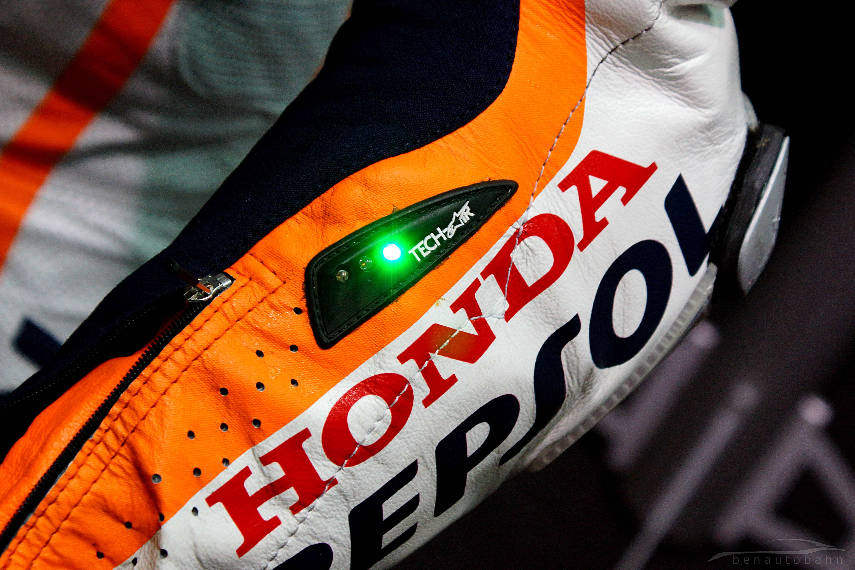 Alpinestars Tech Air worn by 2013 MotoGP world champion, Marc Marquez.