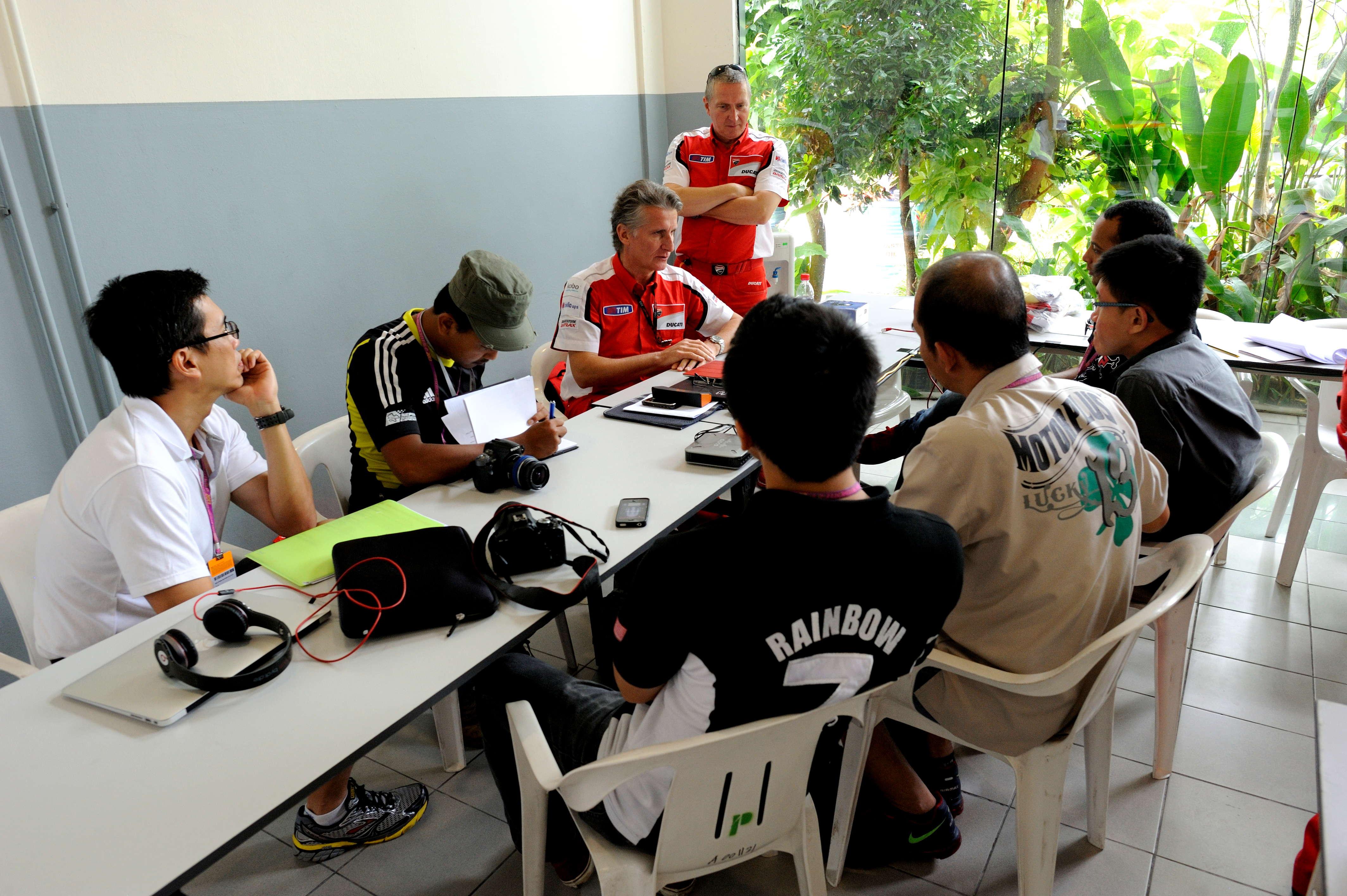 Interviewing Ducati MotoGP Project Director, Paolo Ciabatti.