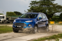 Ford claims that the EcoSport has a 500mm wading depth. We could not find a 500mm deep puddle, so this will do.