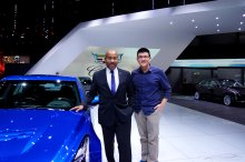 With Edward Welburn, GM vice president of global design.