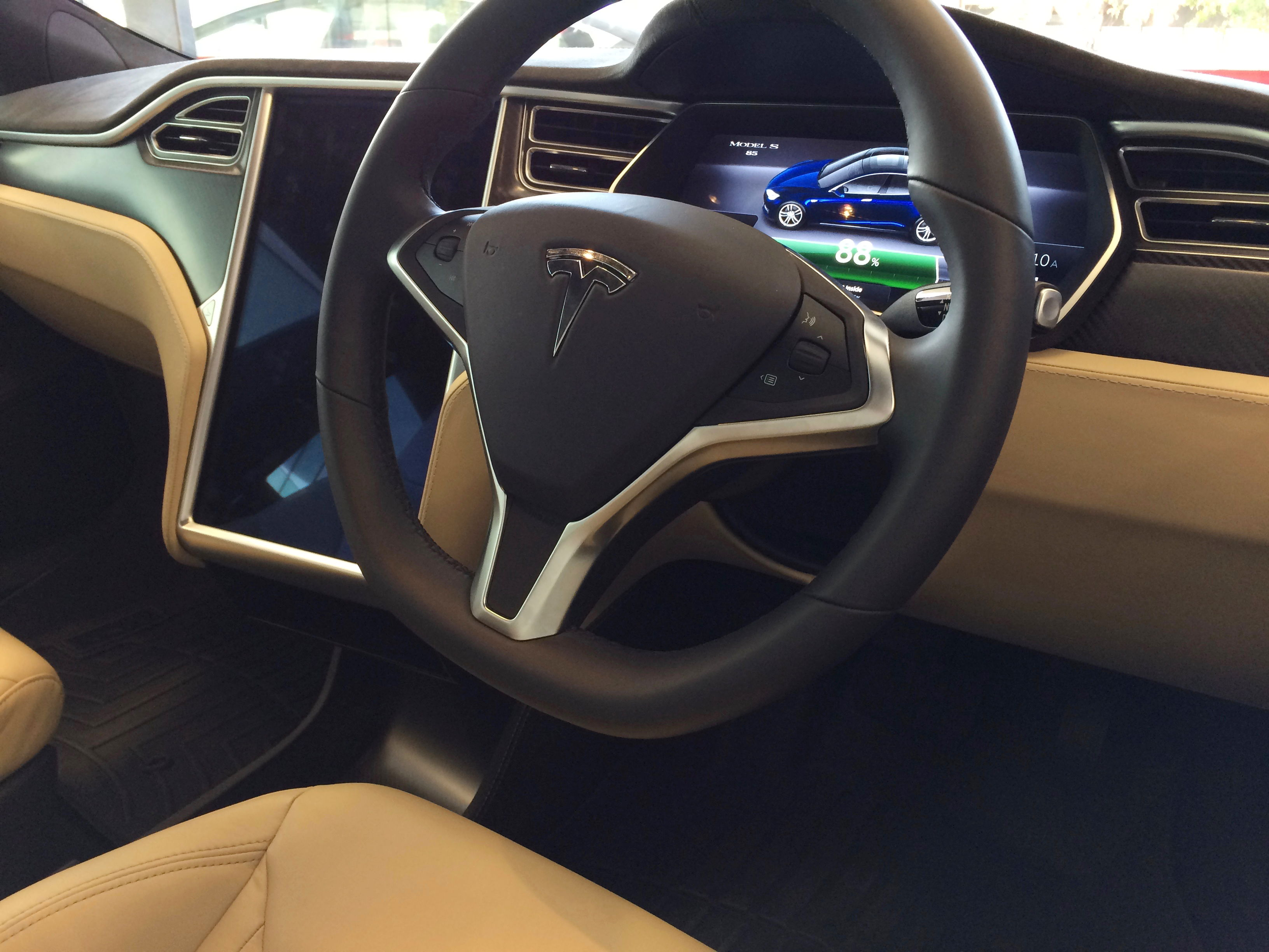 Tesla Model S first drive